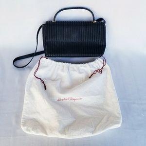 EUC Salvatore Ferragamo Black Fabric Handbag